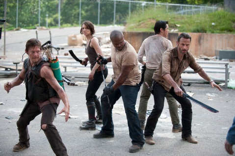 The Walking Dead Season 3 - Prison Fighting circle