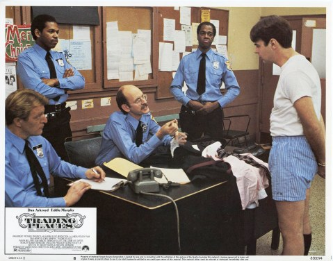 Trading Places - Dan Aykroyd at Police Station
