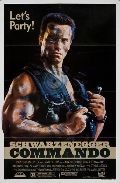 Commando (1985) - Poster