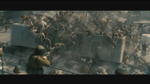 World War Z - Blur of CGI Zombies