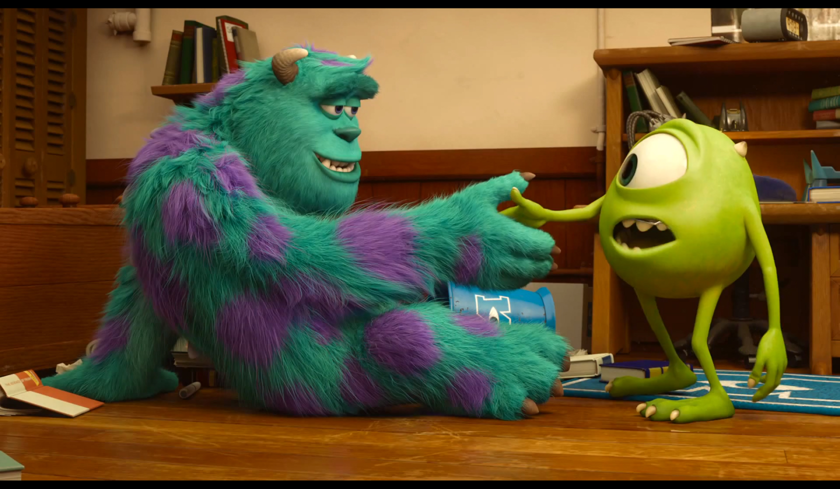 mike wazowski and sully meet