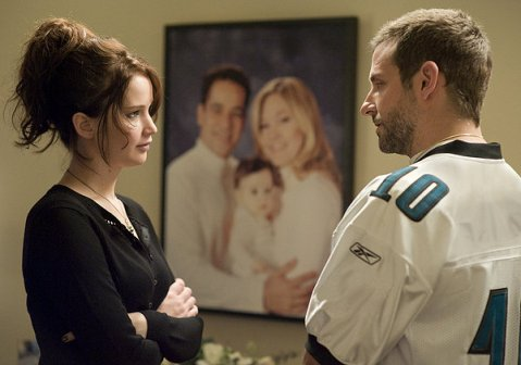 Silver Linings Playbook - Bradley Cooper  and Jennifer Lawrence at Party