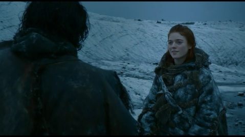 Game of Thrones Season 2 - Ygritte with John Snow