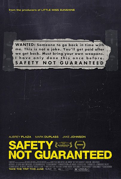 Safety Not Guaranteed - Poster