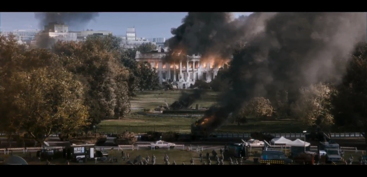 Image result for white house on fire pictures