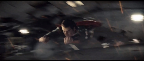 Man of Steel - Flying-Through-Building